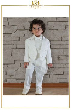 This beautifully made Beau KiD boys morning suit has it all. Made from premium fabric, it is the complete look for any christening, wedding, or is ideal as a pageboy suit. Shop now at SIRRI kids #childrens suits #boys 3 piece suit #kids wedding suits #boys communion suits