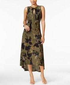 Bar III Printed High-Low Maxi Dress, Only at Macy's | macys.com