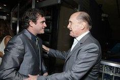 Robert Duvall and Joaquin Phoenix at an event for We Own the Night (2007) http://www.movpins.com/dHQwNDk4Mzk5/we-own-the-night-(2007)/still-2591005440