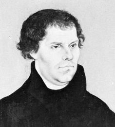 Photograph:Lucas Cranach painted a portrait of Martin Luther in 1526. The oil painting is in the Nationalmuseum, in Stockholm, Sweden.