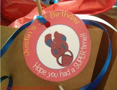 Superhero Party Thank You Tags Personalized with your text  by #UPrintPartySupplies  $7.00