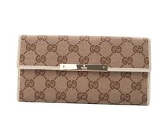 afb75906a8a57 Gucci Continental Wallet with Trademark Engraved Plate Off-white Sale Gucci  Wallet