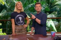 We're just days away from the kickoff of this year's I'm a Celebrity. , and ITV has shared a first look at Declan Donnelly and Holly Willoughby in the jungle ahead of the November 18 premiere date. Declan Donnelly, Ant & Dec, Holly Willoughby, Tv Presenters, Stupid, Celebrity, Celebs, Female, Pretty