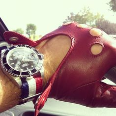 how-you-should-ride-driver-gloves-submariner-nato.jpeg (612×612)