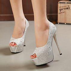 288408d3dcd Women s+Shoes+Stiletto+Heel+Peep+Toe+Pumps+Dress+
