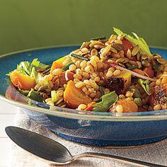 Golden Beet Salad with Wheat Berries and Pumpkin seed Vinaigrette