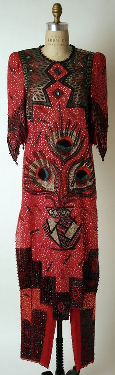 Ensemble 1986 - Jane Raven for Zandra Rhodes when she was working for her dress belongs to the MET