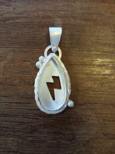 """Thunder and lightening"" pendant in progress - open studio @creativesideja"