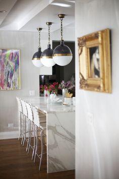 Classic Kitchen Pendant Lighting: The Hicks Pendant - Driven by Decor Kitchen Pendant Lighting, Kitchen Pendants, Pendant Lights, Pendant Lamps, Kitchen Soffit, Island Pendants, Round Pendant, Kitchen Interior, Kitchen Design