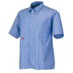 Camisa Manga Corta Algodón Referencia  08161 Marca:  Industrial Starter  En 100% algodón. Abotonada, bolsillos en el pecho con portalápices.