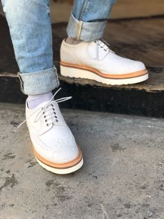 90527f47 Shoes鞋 · Archie in White Burnished Suede #grenson #menswear #grensonshoes  #grensonbrogues #mensfashion #