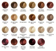 ion color brilliance color chart - Google Search