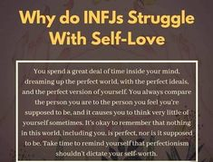 INFJ low self-worth, perfectionism. Enfj, Myers Briggs Personality Types, Mbti Personality, Personality Profile, John Maxwell, Infj Traits, Infj Love, Introvert Problems, Tips