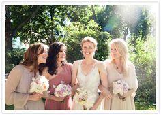 Intimate London wedding: Anika + Matt Bridesmaids in Dusty Rose Dresses