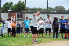 PHOTO GALLERY: The recreation department is holding a Batter-Up Baseball Clinic for students in grades 4 to 8 from July 13 to 16. The camp is being taught by Mike Armour, the high school varsity baseball coach.