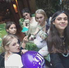 Johnny Depp and ex Vanessa Paradis celebrate Lily-Rose's Sweet 16 Lily Rose Melody Depp, Lily Rose Depp Style, Sweet 16 Birthday, 16th Birthday, Girl Birthday, Half Birthday, Alana Champion, Lily Depp, Love Lily