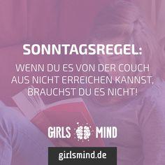 Einen schönen Sonntag Mädels!  Mehr Sprüche auf: www.girlsmind.de  #sonntag…