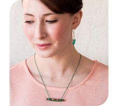Image of Wooden Triangle Necklace