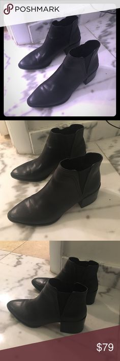 RESERVED: Dolce Vita Black Cala Leather Booties RESERVED Dolce Vita Shoes Ankle Boots & Booties