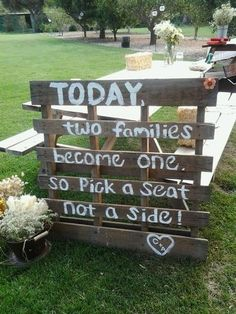 Country Chic Wedding – Lets do this. i can make it and bring it. i also have a shutter with hooks. Hostess with the Mostess ®