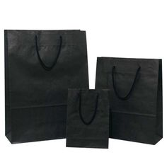 Buy Black Carrier Bags with Rope Handles – Pico Bags Paper Carrier Bags, Paper Bags, Jute Bags, Shopping Bag, Stylish, Stuff To Buy, Tissue Paper, Black, India