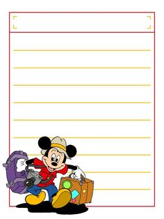 Mickey Suitcases with title box - Project Life Disney Journal Card - Scrapbooking. Disney Theme, Disney Style, Disney Love, Disney Mickey, Project Life Scrapbook, Project Life Cards, Walt Disney World Vacations, Disney Trips, Disney Cruise