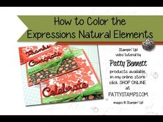 Watermelon Wonder Dahlias - Expressions Elements Video - Patty's Stamping Spot - How to color your wooden elements with Stampin' UP! ink pads by Patty Bennett