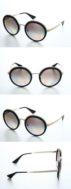 9f27144d71d Sunglasses 45246  New Prada Pr 50Ts 1Ab-0A7 Black Frame Grey Lens Men Women  Round Metal Sunglasses -  BUY IT NOW ONLY   207.99 on eBay!