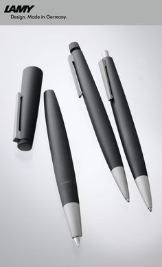 LAMY 2000  Fountain pen, Mechanical pencil and Ballpoint pen Designer: Gerd A. Müller