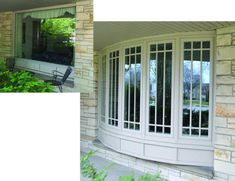 Before and After: Picture window replaced with Infinity fiberglass 5 wide Bow. Installed by Home Exteriors by Callen in Muskego, WI.