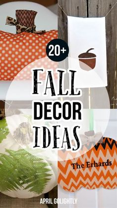 I found a ton of amazing DIY Fall decor ideas for you to help you decorate your house for Fall like cute pumpkin pillow, door decor, pumpkin leaves and acorns. Rooms Home Decor, Diy Home Decor, Diy Craft Projects, Diy Crafts, Pumpkin Leaves, Pumpkin Pillows, Cute Pumpkin, Adult Crafts, Do It Yourself Home