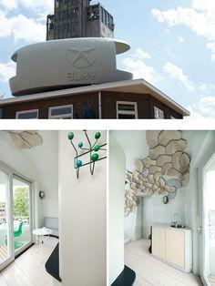 3 single room hotel with unique look