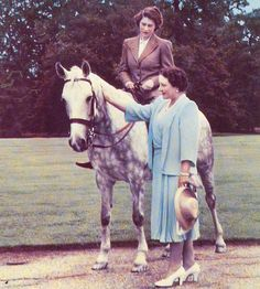 Queen Elizabeth II and her mother, Queen Elizabeth(Queen Consort of the United Kingdom at the time) later known as Queen Elizabeth The Queen Mother ....I bet Q2 was awesome at this age...