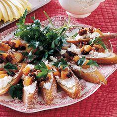 Pear Chutney and Goat Cheese Bruschetta