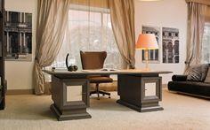 Модульный письменный стол из вишневого дерева от AnniBale Colombo M1463