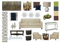 Living Room Ideas Earth Tones earth tone living room with green wall paint and gray sofa for