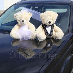 MISIE na samochód Młoda Para duże #slub #wesele #sklepslubny