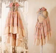 Romantic country chic Junior bridesmaid dress