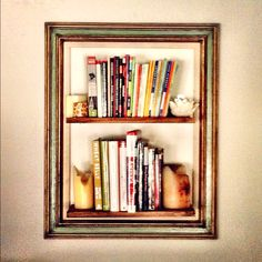 Bookshelves don't have to be ugly. As a matter of fact, they can be art. :)