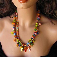 Day of the Dead necklace unique jewelry Dia de los Muertos