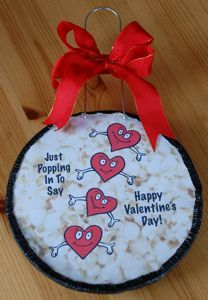 Make A Jiffy Pop® Popcorn Topper for Valentine's Day  Posted by Cynthia Ewer on January #love, #hearts and #valentines