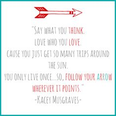 Follow Your Arrow -Kacey Musgraves.