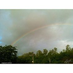 T.G.I.F. #rainbow #sky #cloud #morning from the #alabang #philippines #フィリピン #虹 #空 #雲