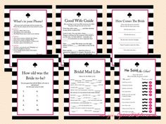 kate spade inspired bridal shower printable games download game
