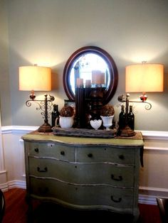 Dresser Used As Buffet Re Purposed Dining Room