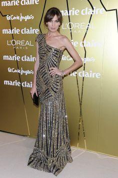 Premios Marie Claire 2011: Nieves Álvarez lució un precioso #vestido de #pedrería de Elie Saab. #Moda #Fashion