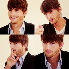 Ashton Kutcher w/that hair-cut. YUM