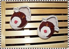 Crochet boots - bears.