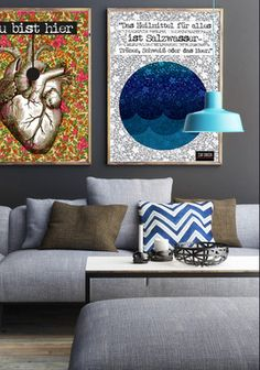 Poster 50 x 70 cm - Das Heilmittel für alles ist Salzwasser... Zitat von Tania Blixen