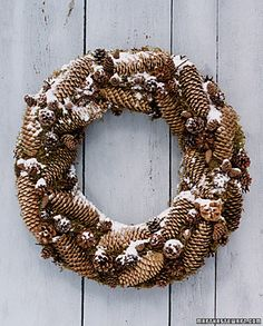 The wreaths below demonstrate how you can use other materials besides ...